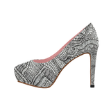 1 FIGHT IN PINK - WOMEN'S PLATFORM HIGH HEEL