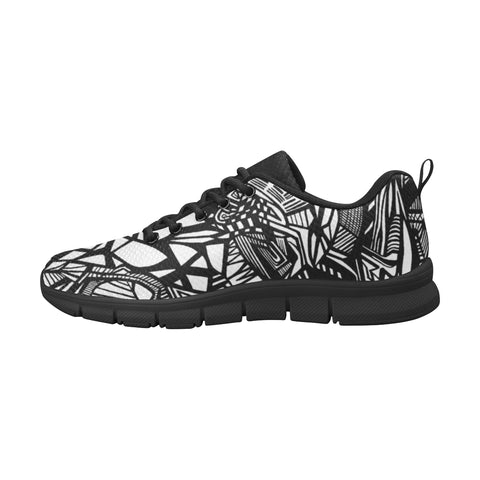 A NOCTURNAL M RUNNING Men's Breathable Running Shoes (Model 055)