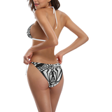 NA222- BUCKLE FRONT BIKINI 6 Buckle Front Halter Bikini Swimsuit (Model S08)