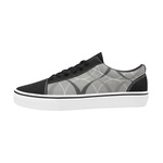 BLACK - WHITE SKATE Men's Low Top Skateboarding Shoes (Model E001-2)