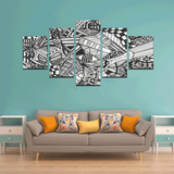 NOCTURNAL ABSTRACT Canvas Wall Art F