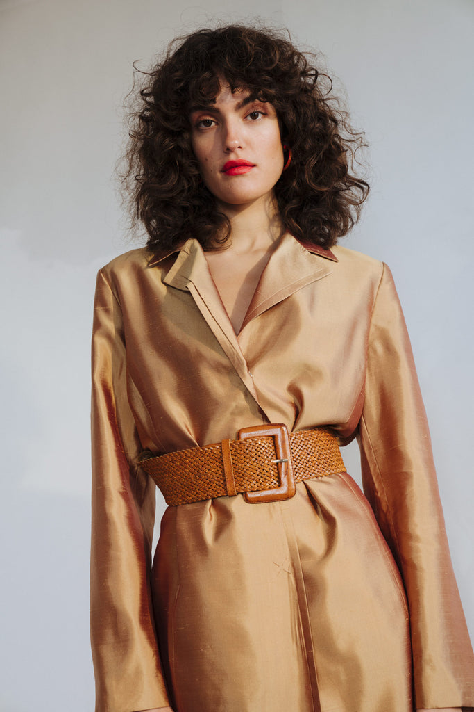 GOLD SILK TRENCH