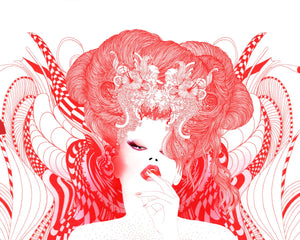 The Queen of Hearts - Limited edition of 100 art prints