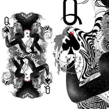 Load image into Gallery viewer, the queen of spades playing cards amazing prints by Noumeda Carbone
