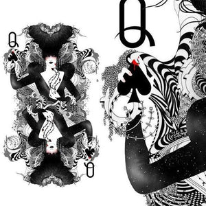 the queen of spades playing cards amazing prints by Noumeda Carbone