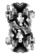 Load image into Gallery viewer, [Queen of Spades playing cards Limited edition art print] - Noumeda Carbone Art