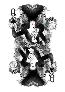 [Queen of Spades playing cards Limited edition art print] - Noumeda Carbone Art