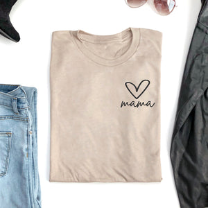Mama Heart Shirt | Mom Shirt | Mama Bear Shirt | Mom Life | Blogger Shirt | Summer Shirt