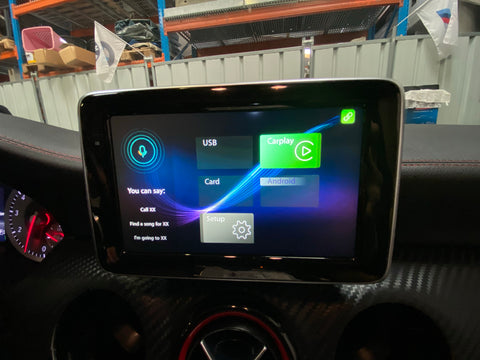 menu carplay mercedes classe A