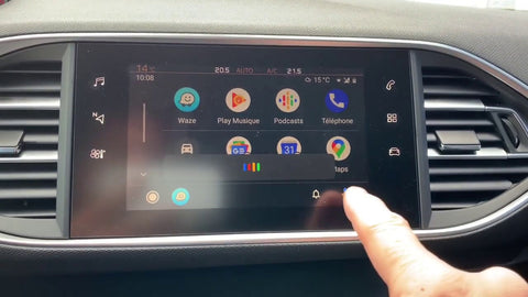 android auto peugeot 308