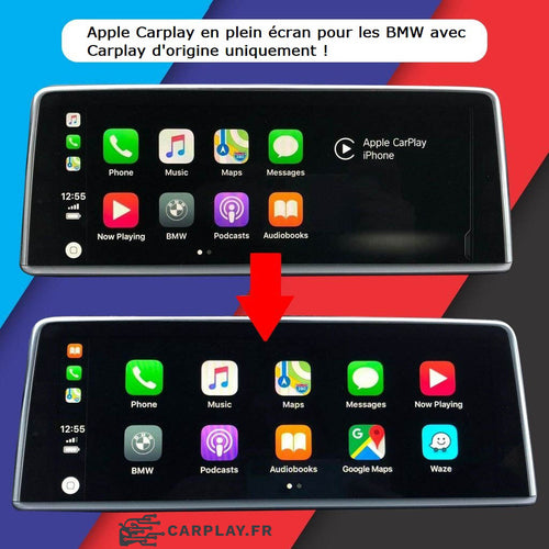 apple carplay bmw plein ecran