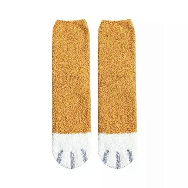 "[45% RABATT AB 5 PAAR SOCKEN] - Warme Socken - ""CAT CLAWS "" Katzensocken - 6 FARBEN Geniale Gadgets Orange"