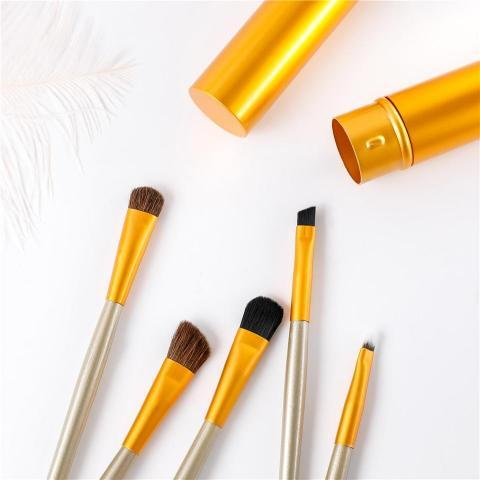 Reise Mini Make Up Pinselset Geniale Gadgets Gold