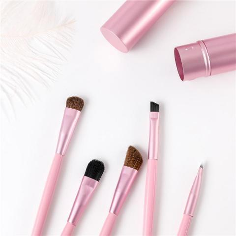 Reise Mini Make Up Pinselset Geniale Gadgets Pink