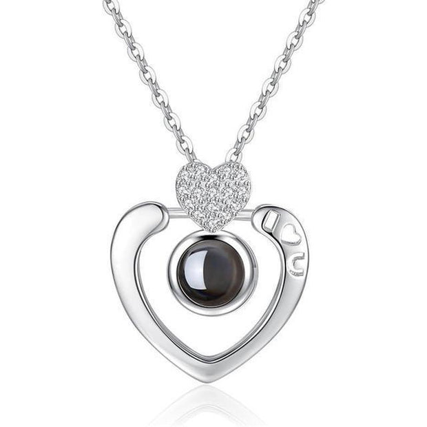 "Subloom - 100 ""I Love You"" Kette Geniale Gadgets Herz I <3 u - Silber"