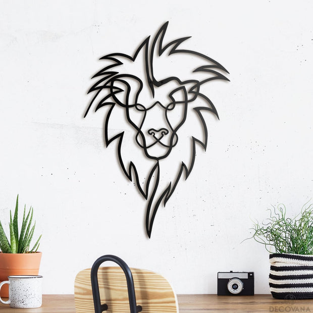 Lion Head - Metal Deco