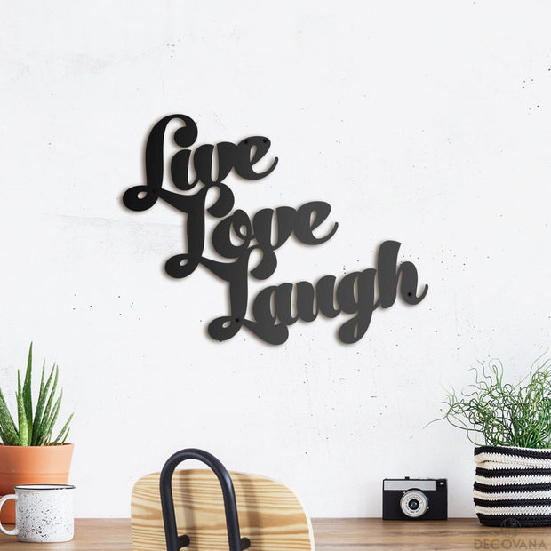Live Love Laugh - Metal Deco