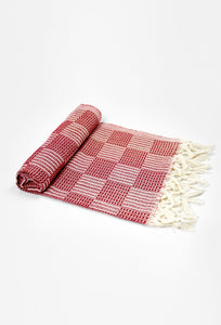 Square-Bordeaux Hand Towel - Haremliq