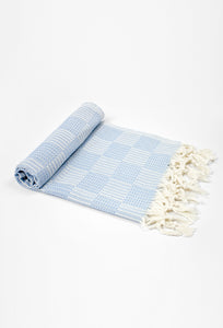 Square-Blue Hand Towel - Haremliq