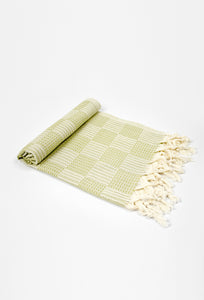 Square-Green Hand Towel - Haremliq