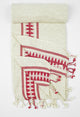 Antique-Bordeaux Peshtemal Beach/Bath/Spa Towel - Haremliq