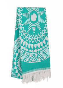 Mystic-100% Premium Turkish Cotton Peshtemal Towel - Haremliq