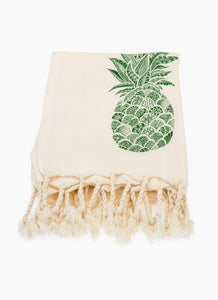 Pineapple-100% Premium Turkish Cotton Peshtemal Towel - Haremliq