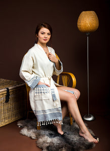 Haremliq.com, 100%, Cotton, Blue, Robe for Adults
