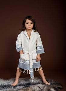 Haremliq.com, 100% Cotton, Blue, Robe for Kids, Peshtemal