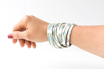Leather Bracelet / Original Sliced Wrap Cuff / Sunshade / Small