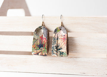 Leather Earrings / Mini Sliced / Garden Party