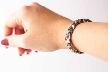 Braided Leather Bracelet / Garden Party / Small