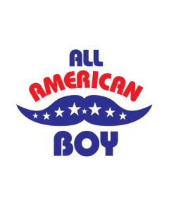 All American Boy Temporary Tattoo