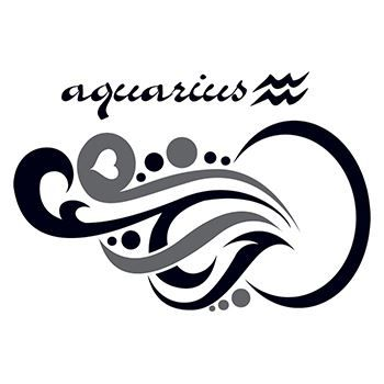 Aquarius Temporary Tattoo