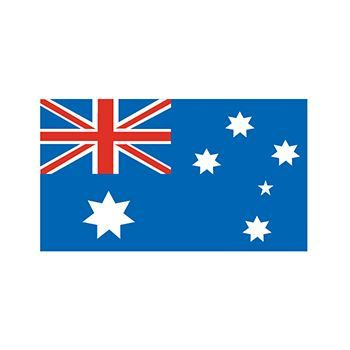 Australian flag which is blue and has a British flag in the top left quadrant and six stars; temporary tattoo