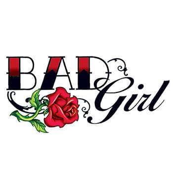 Bad Girl Rose Temporary Tattoo