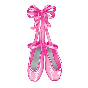Pink ballet slippers hanging and tied in a bow temporary tattoo