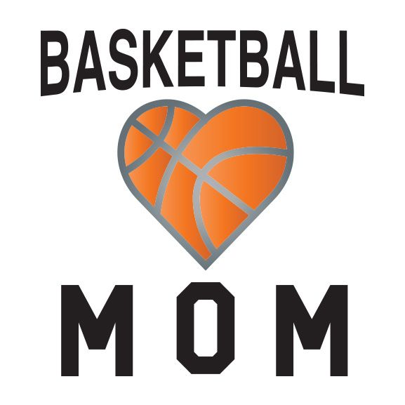 Metallic Basketball Mom Temporary Tattoo
