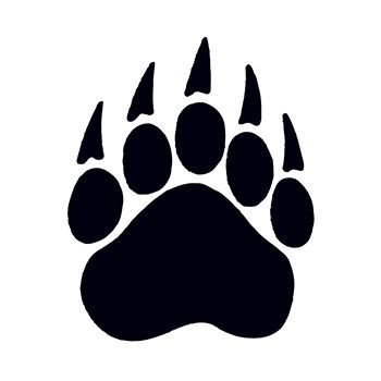 Bear Paw Print Temporary Tattoo