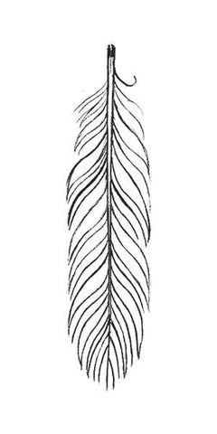 Black Feather Temporary Tattoo