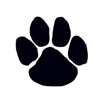 Black Paw Print Temporary Tattoo