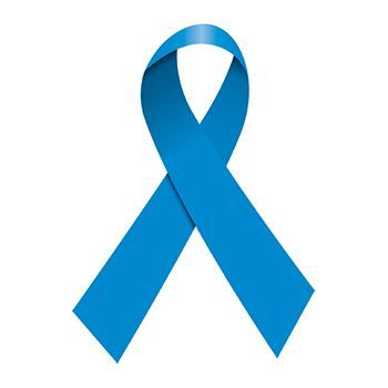 Simple blue ribbon temporary tattoo.