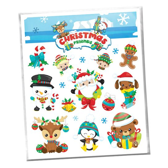 Christmas Temporary Tattoo Sheet