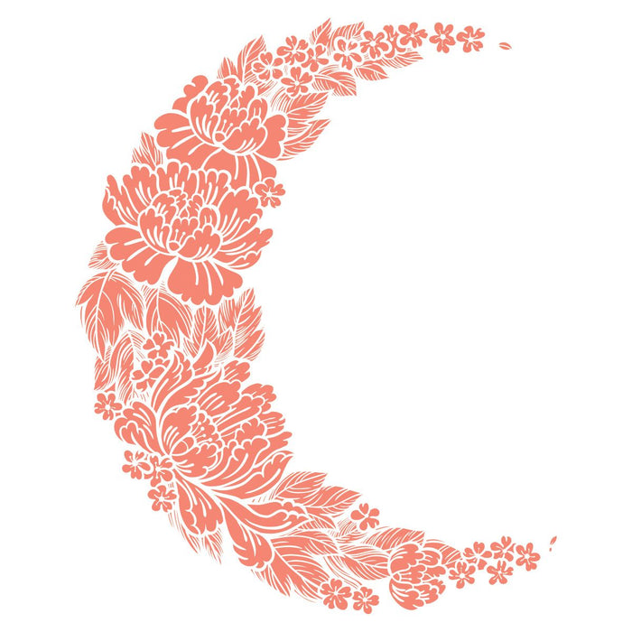 Coral Flower Moon Temporary Tattoo