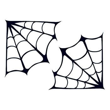 Corner Spider Webs Temporary Tattoo