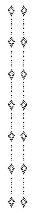 Diamond Spine Temporary Tattoo