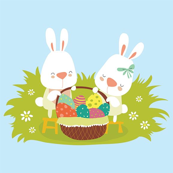 Easter Basket Temporary Tattoo