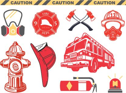 Firefighter Temporary Tattoos
