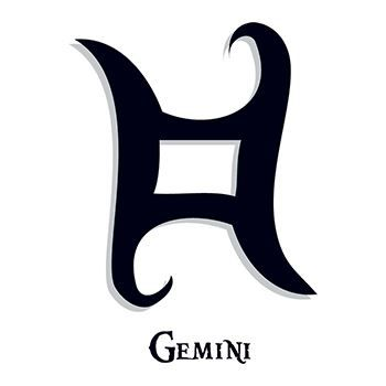 Gemini Zodiac Temporary Tattoo