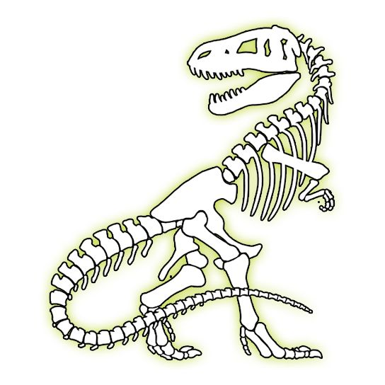 Glow In The Dark T-Rex Temporary Tattoo